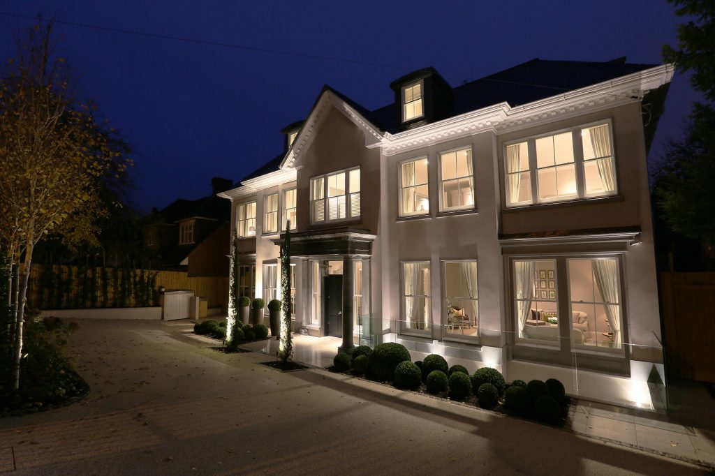 exterior lighting sets the scene