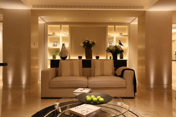 example of layered lighting in a home