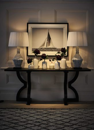 OKA side table and lamps as picked by Sally Storey