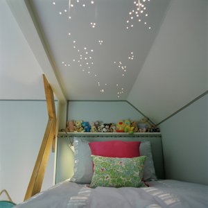 childrens bunk bed with star light effect ceiling