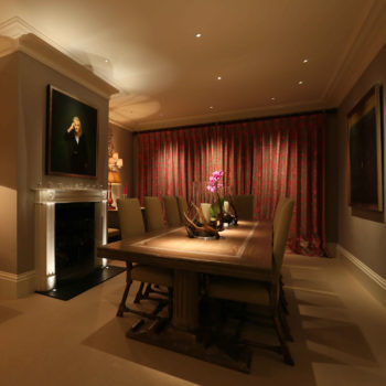 lighting to artwork in a dining room