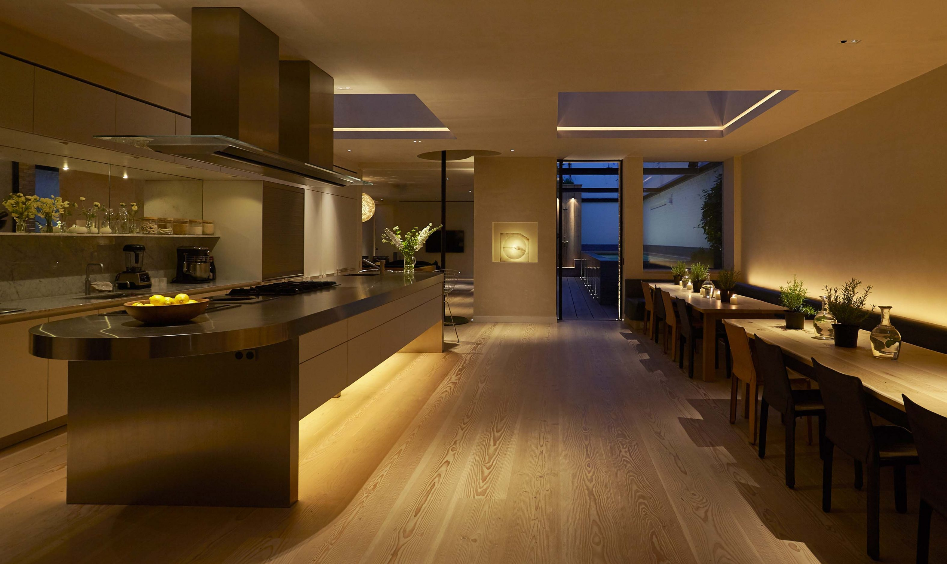 Contemporary Kitchen John Cullen Lighting Architectural