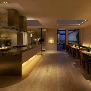 layered kitchen lighting idea