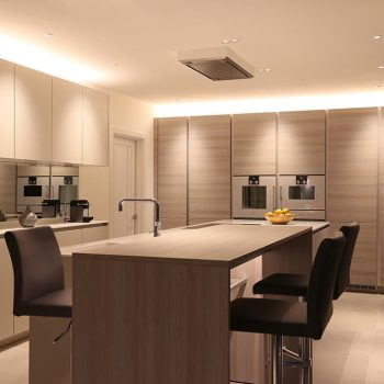 Kitchen with island and units