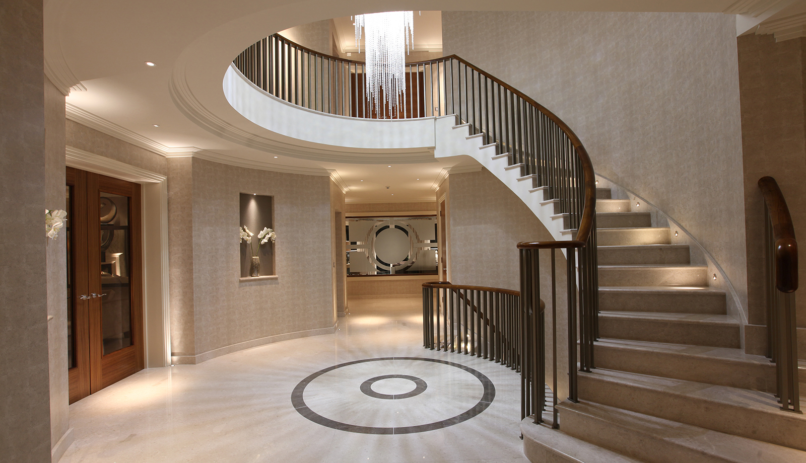 luxury entrance hall lighting