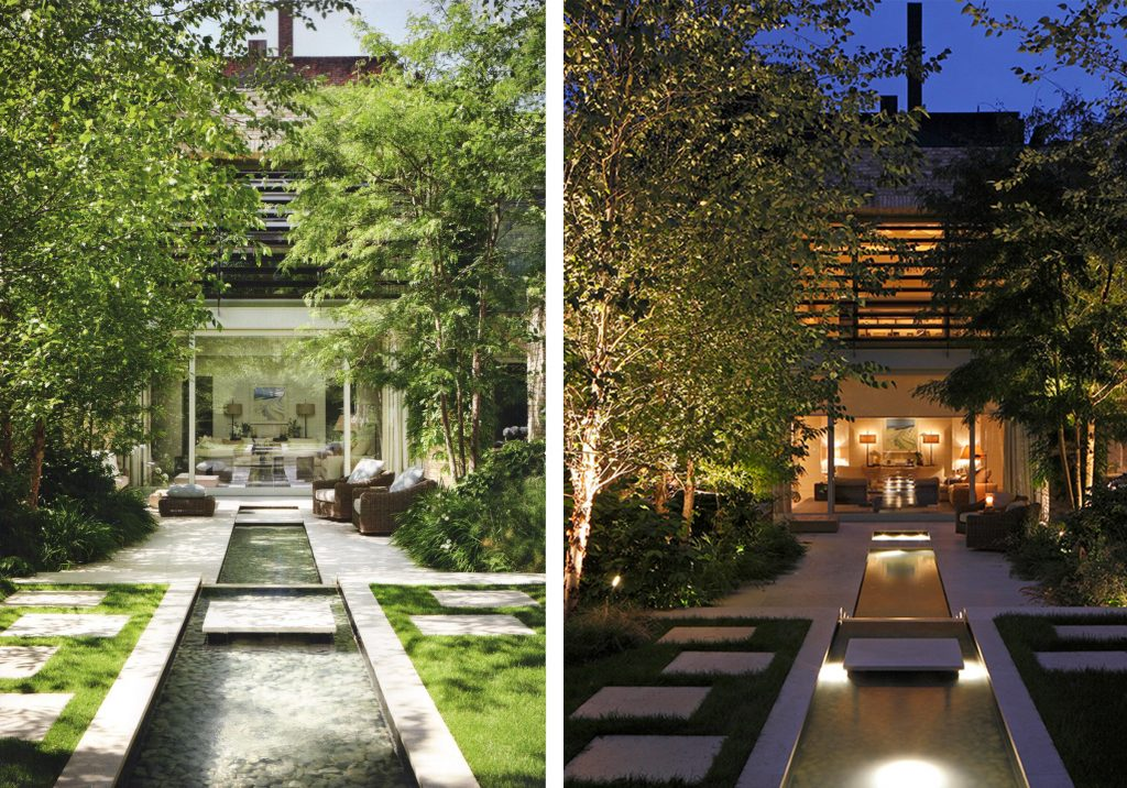 garden by day and night