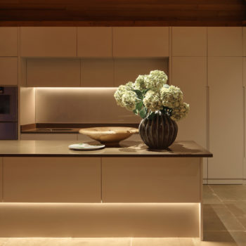 linear kitchen lighting for a contemporary effect
