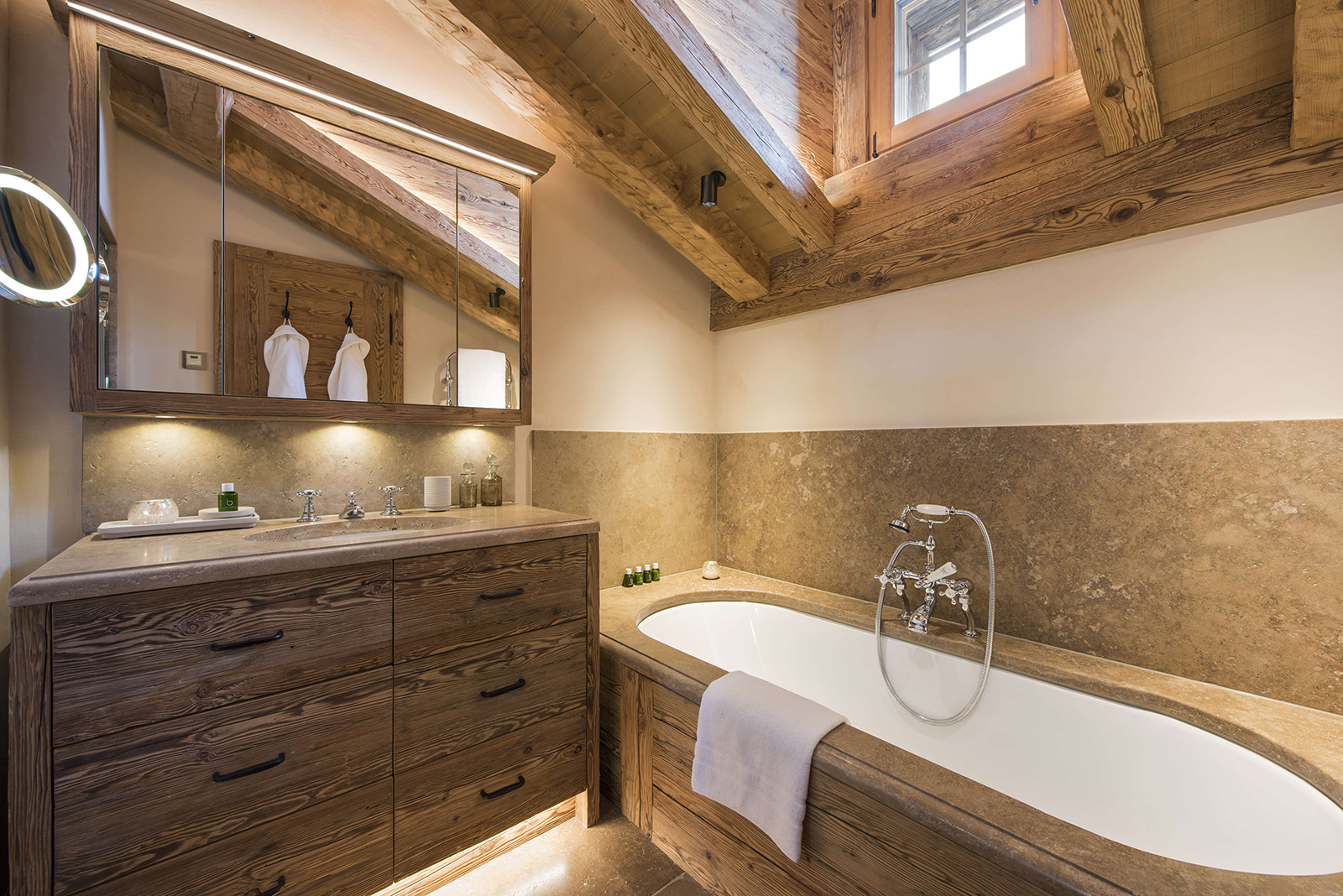 Chalet Bathroom Lighting design