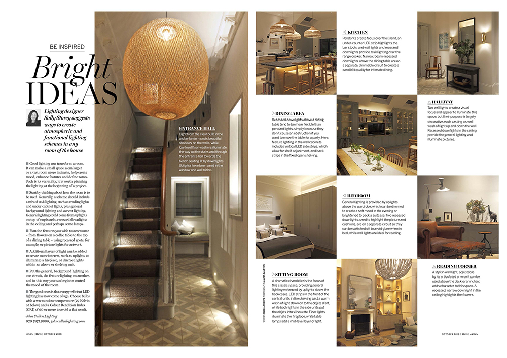 Homes and Gardens lighting feature