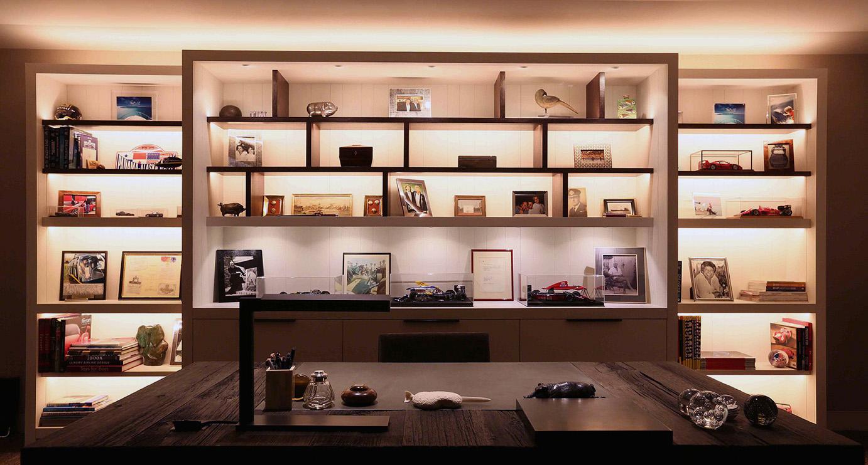 Home Office Shelf Lighting John Cullen