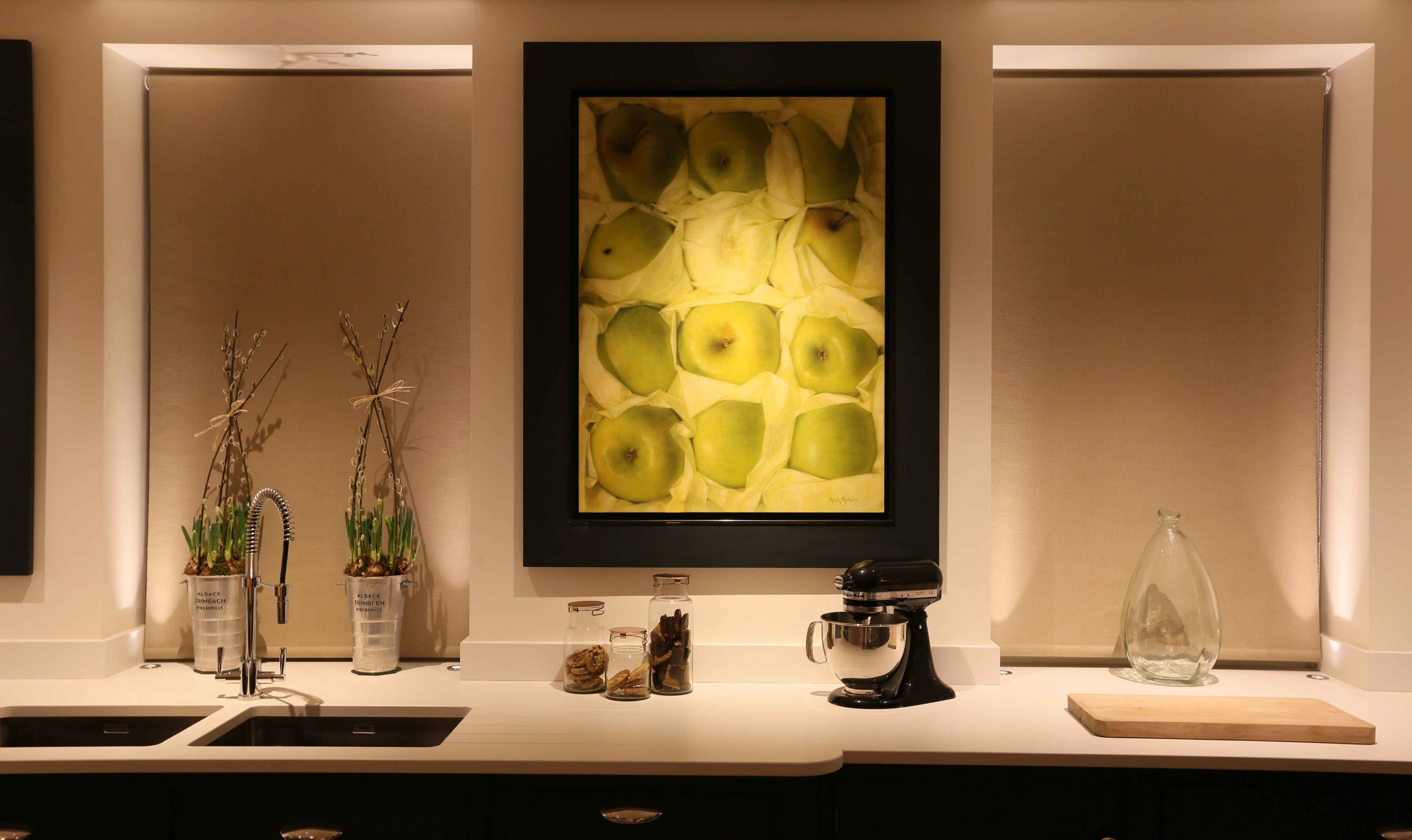 Kitchen Window and Art Lighting