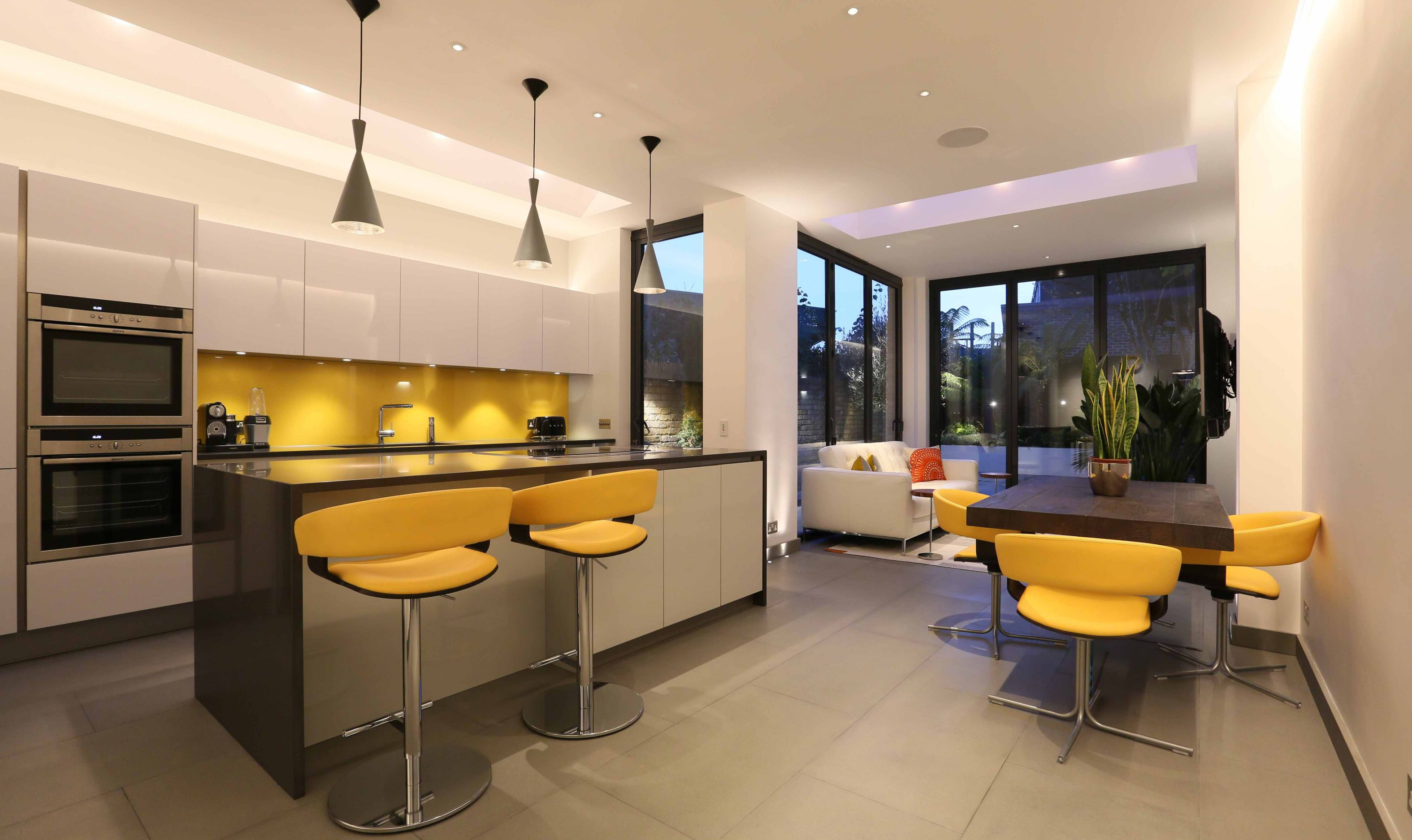 Kitchen extension lighting design