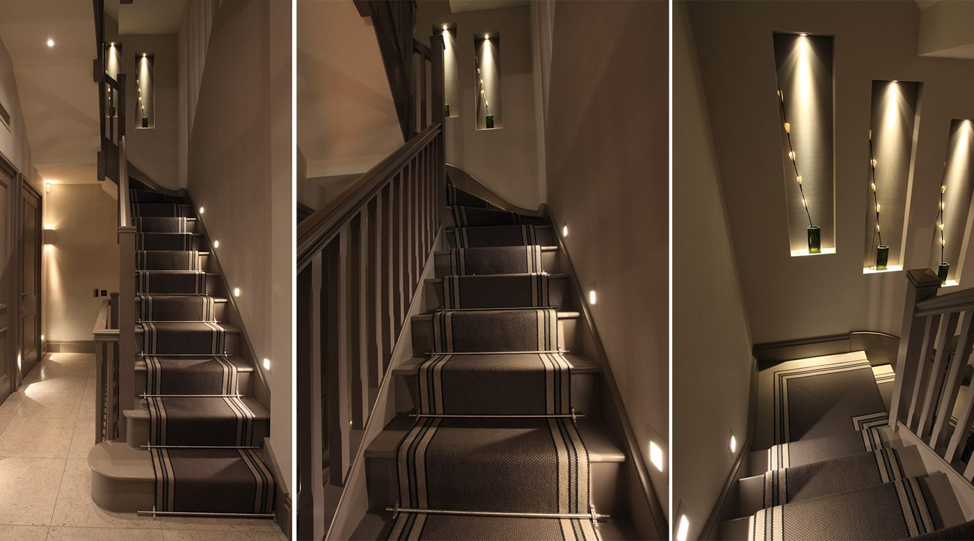 Narrow Hall and stairs lighting