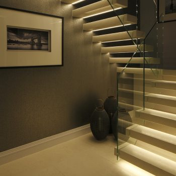 linear stair lighting technique