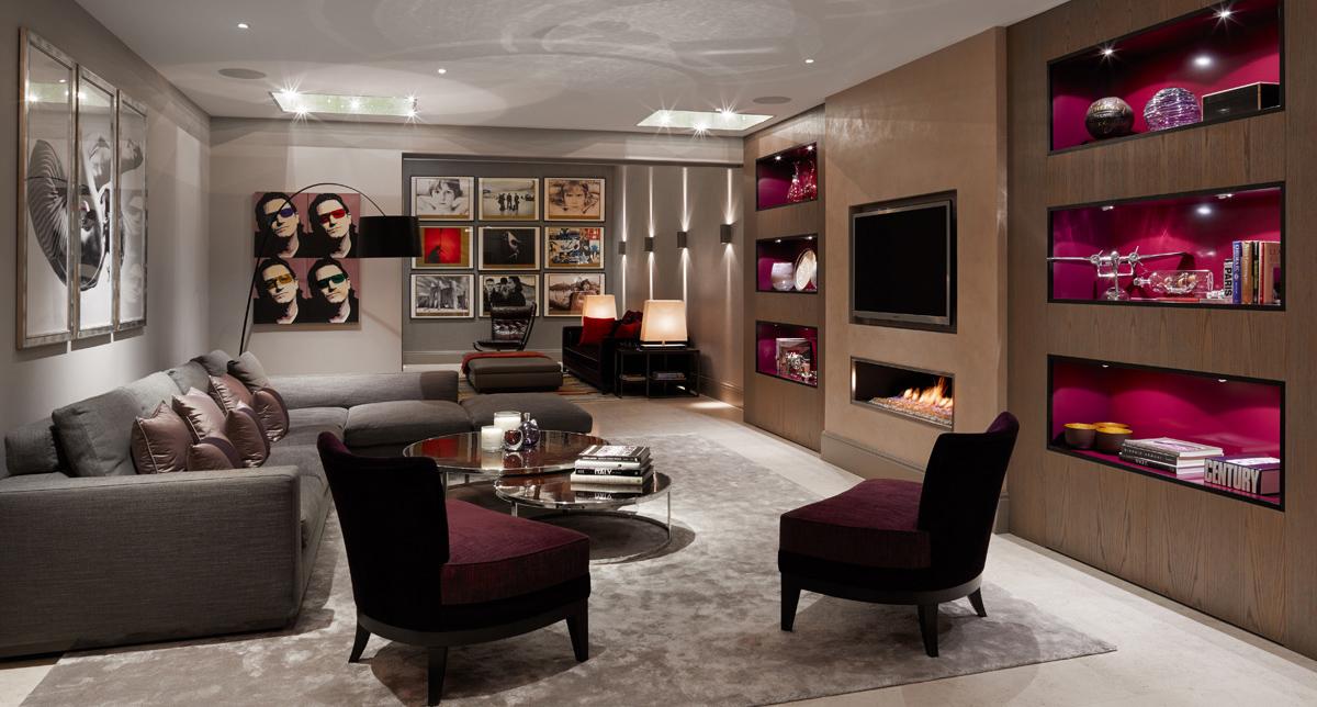 basement living room lighting