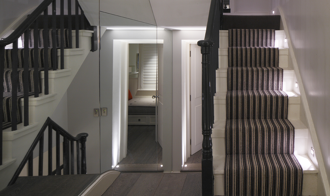 internal staircase lighting