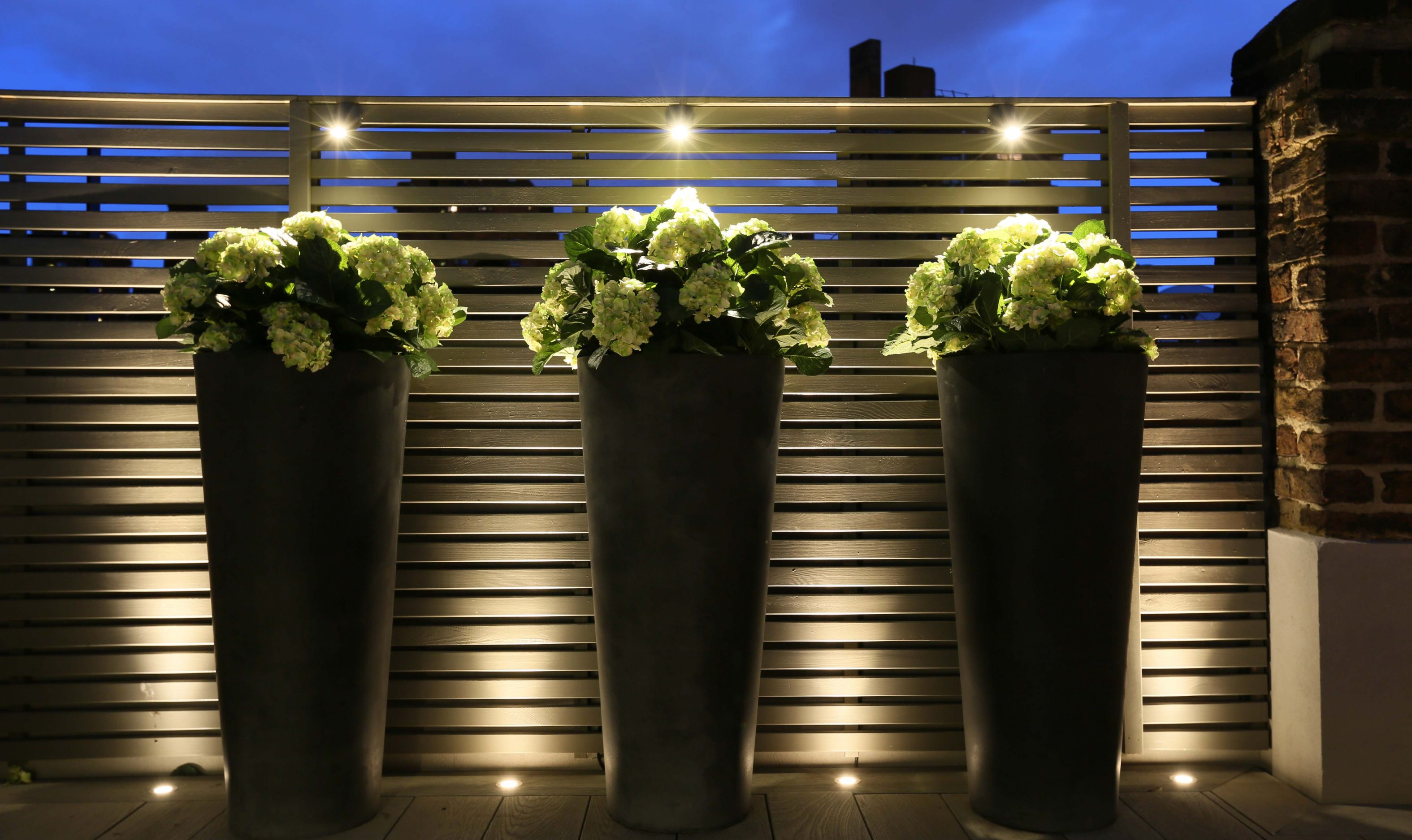 over sized planter lighting