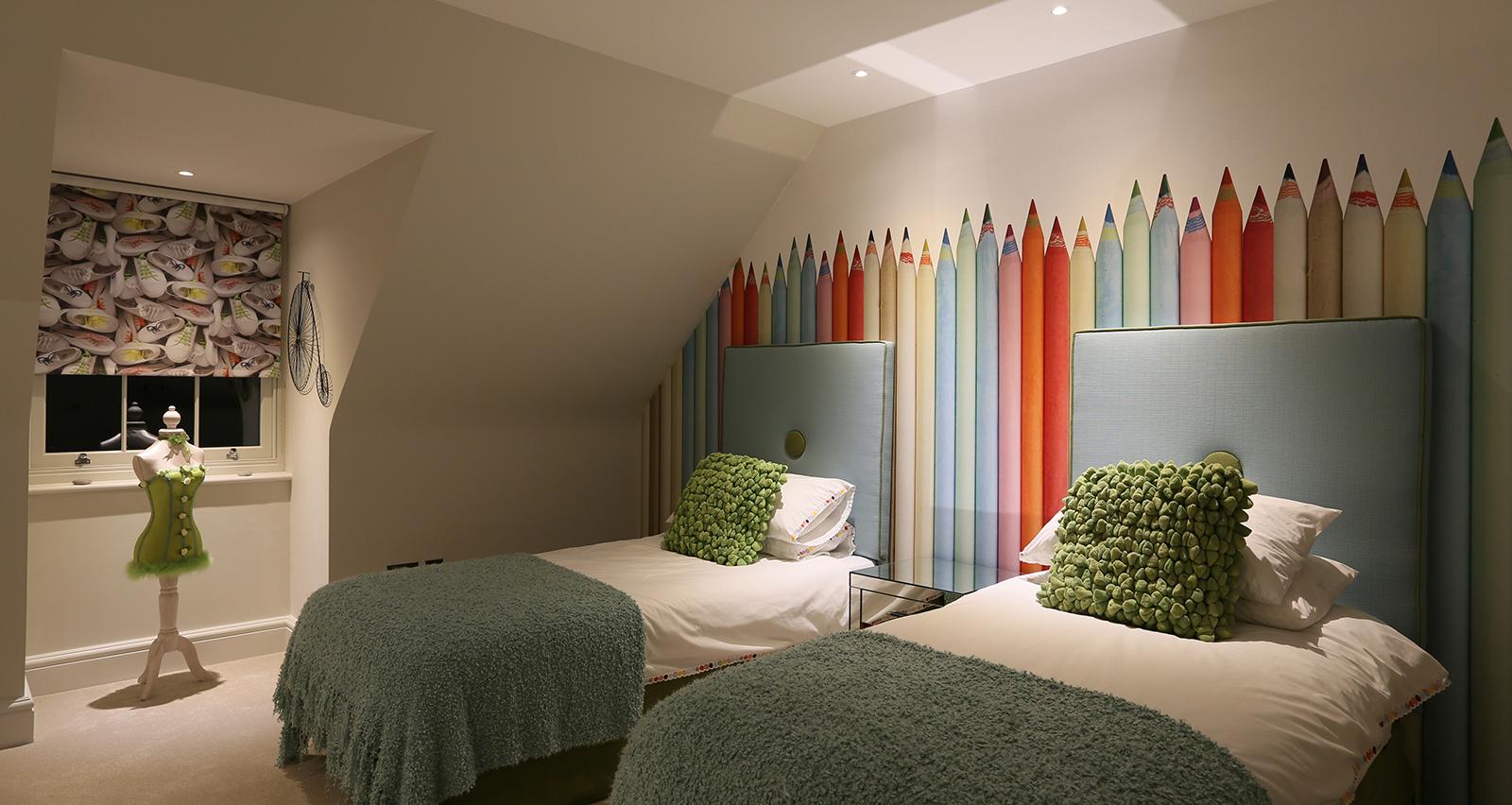 childrens twin bedroom lighting