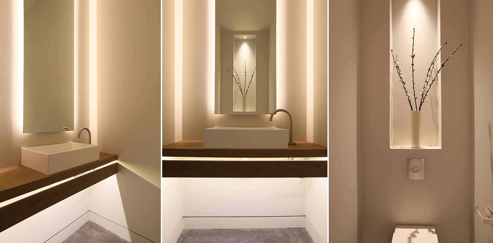 Cloakroom bathroom lighting