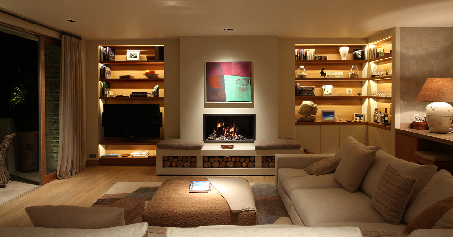 Contemporary living room lighting