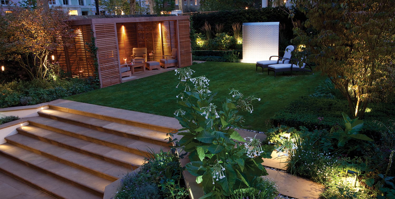 Lighting for entertaining garden