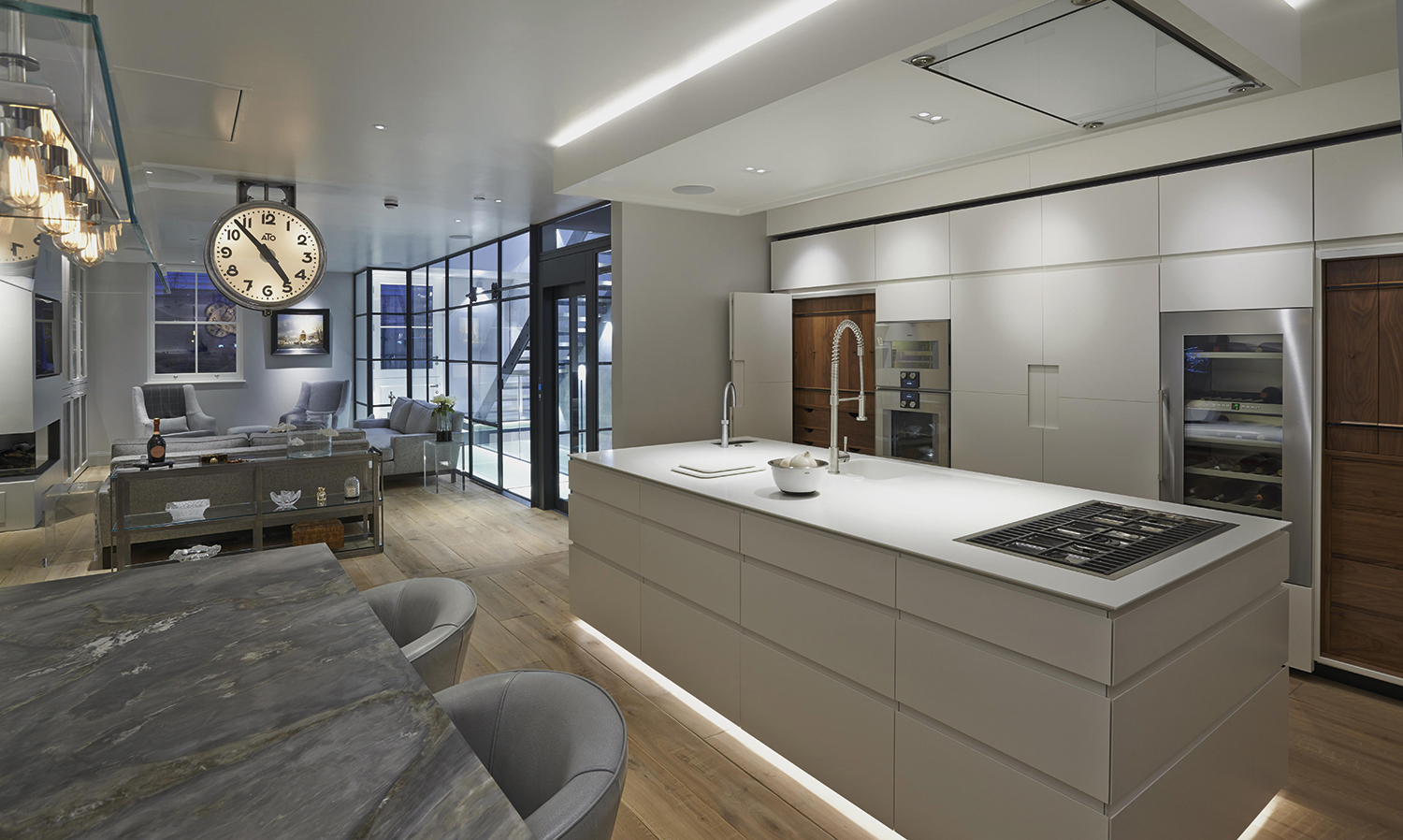 Mews Open Plan Kitchen lighting