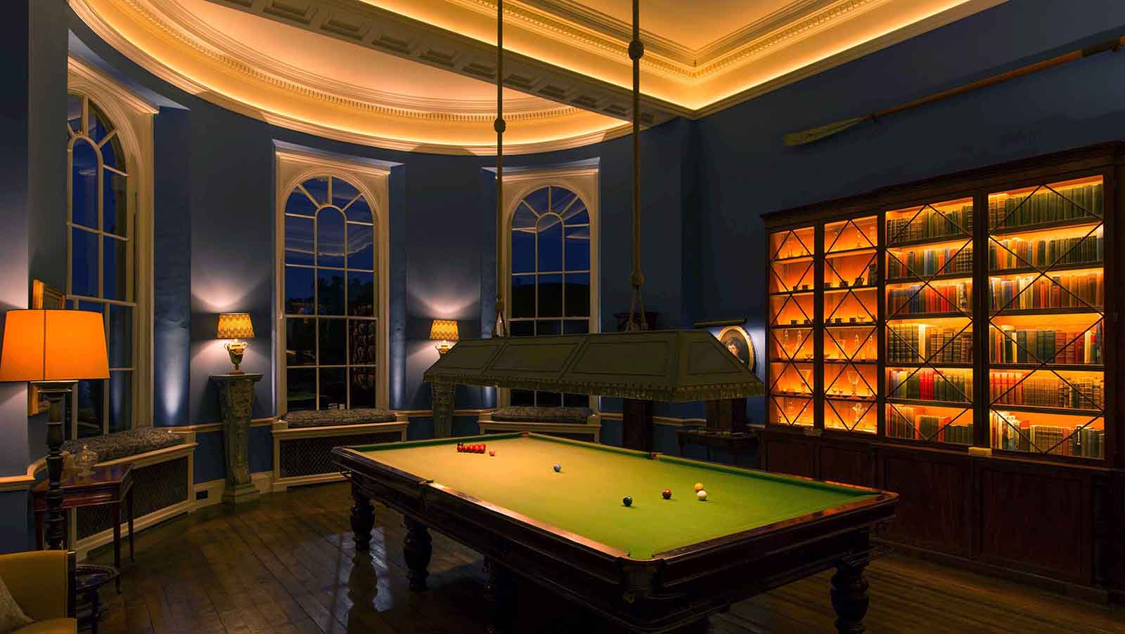 traditional billiard room
