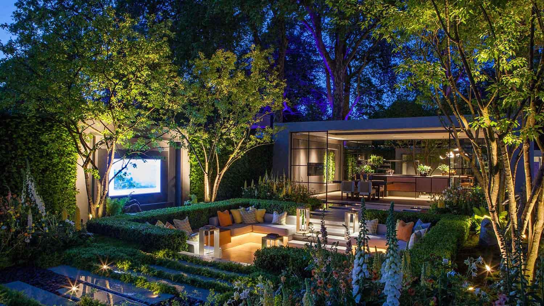 inside outside living garden lighting
