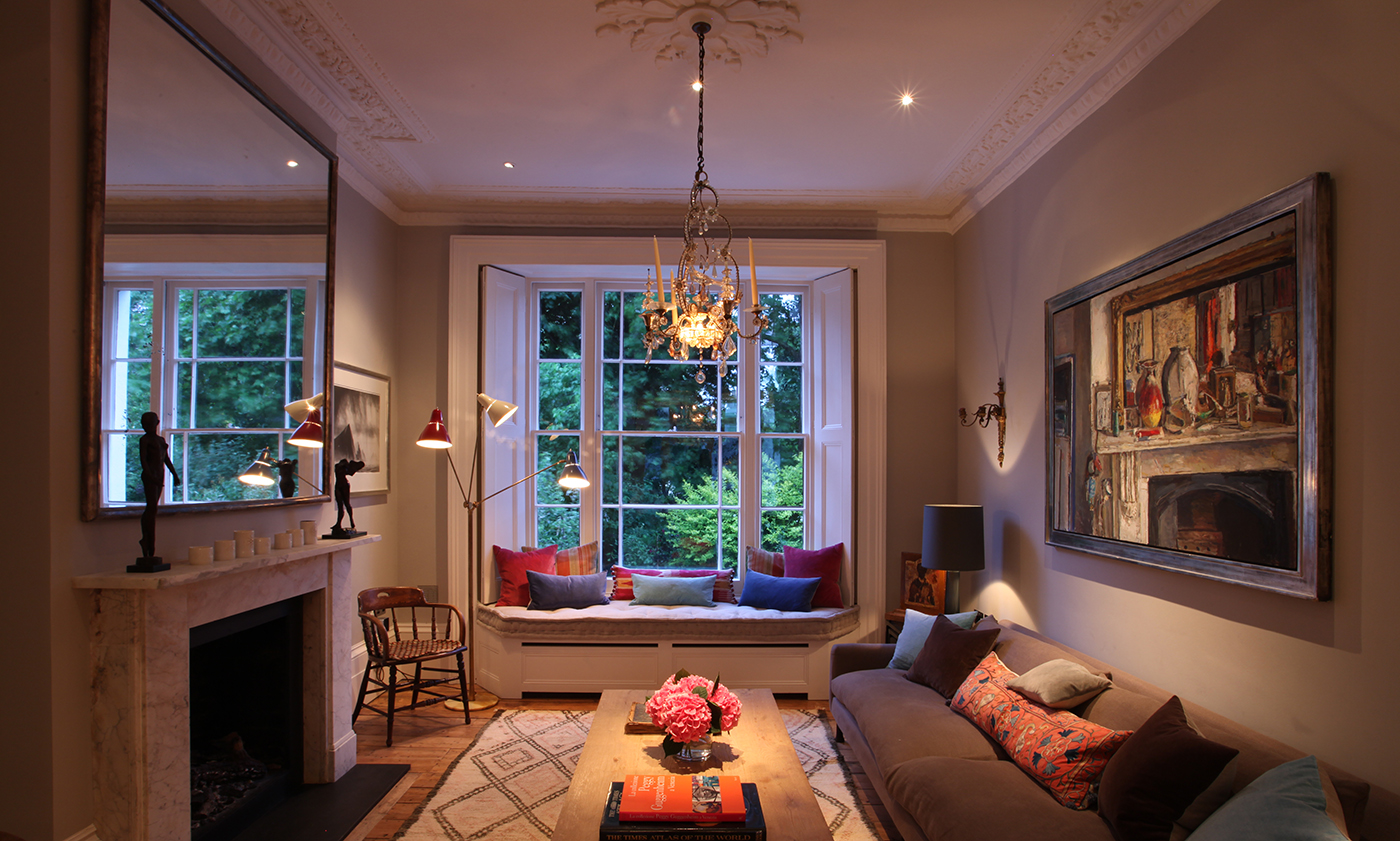 lighting for timeless drawing room