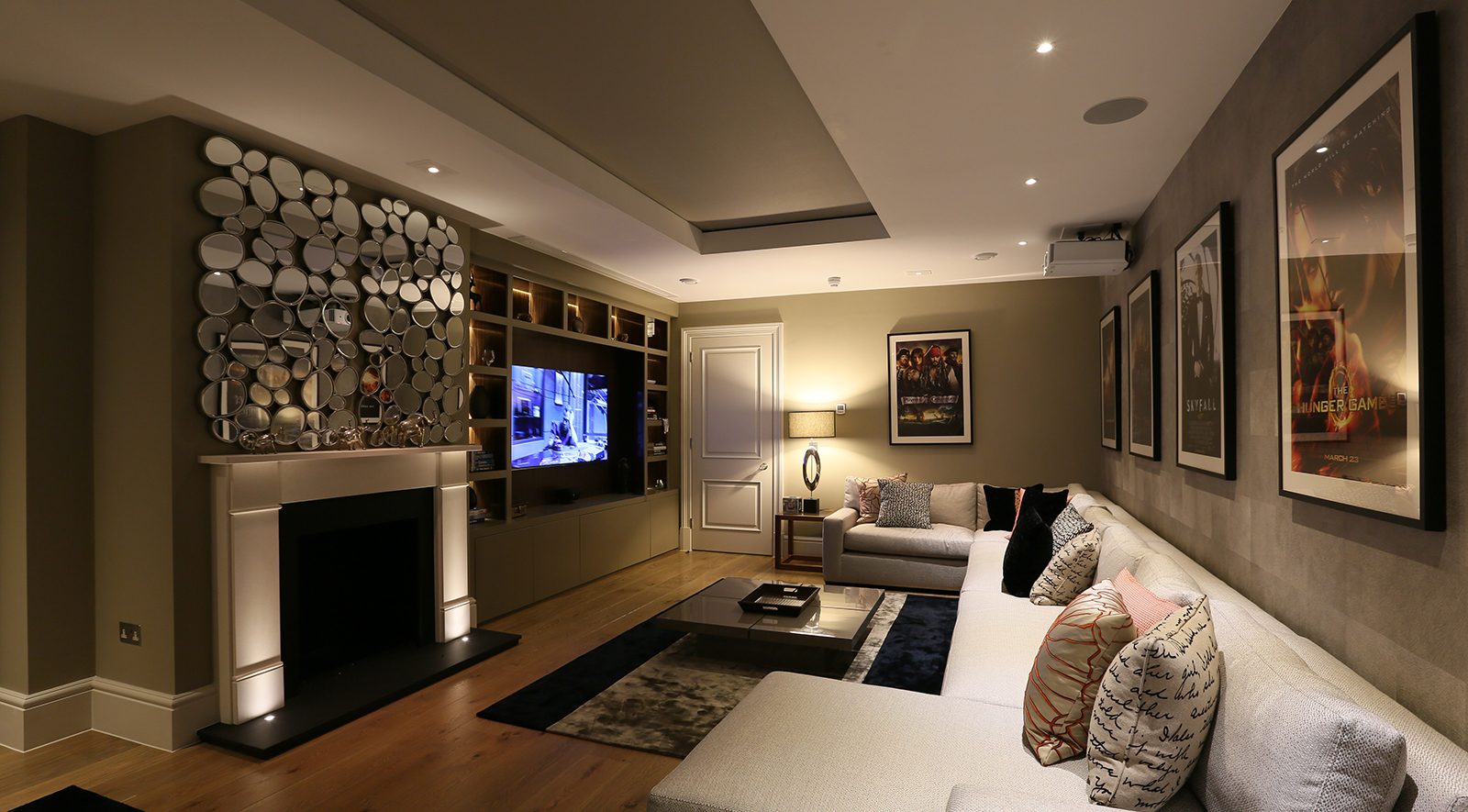 relaxing tv room