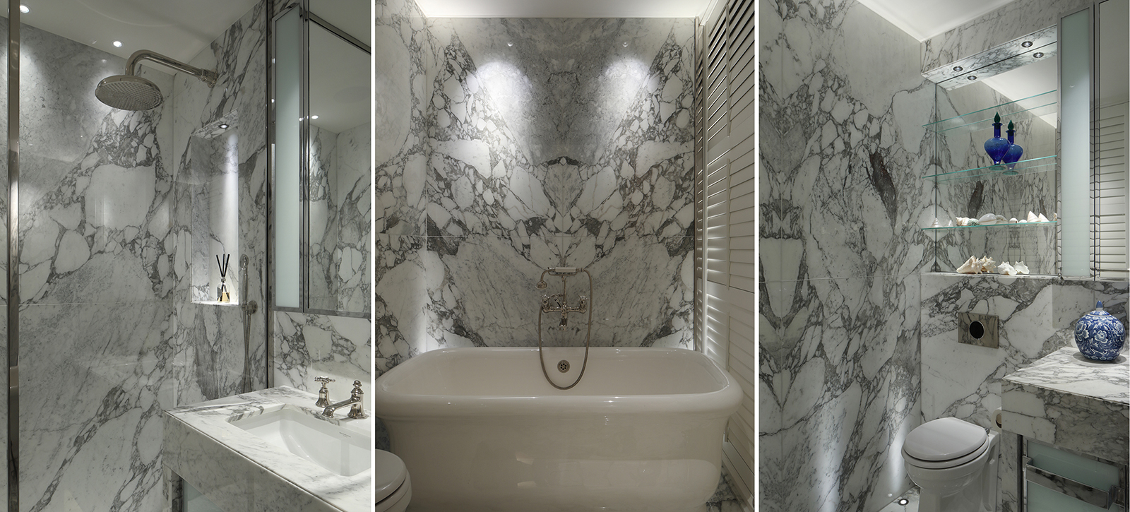 marble bathroom lighting