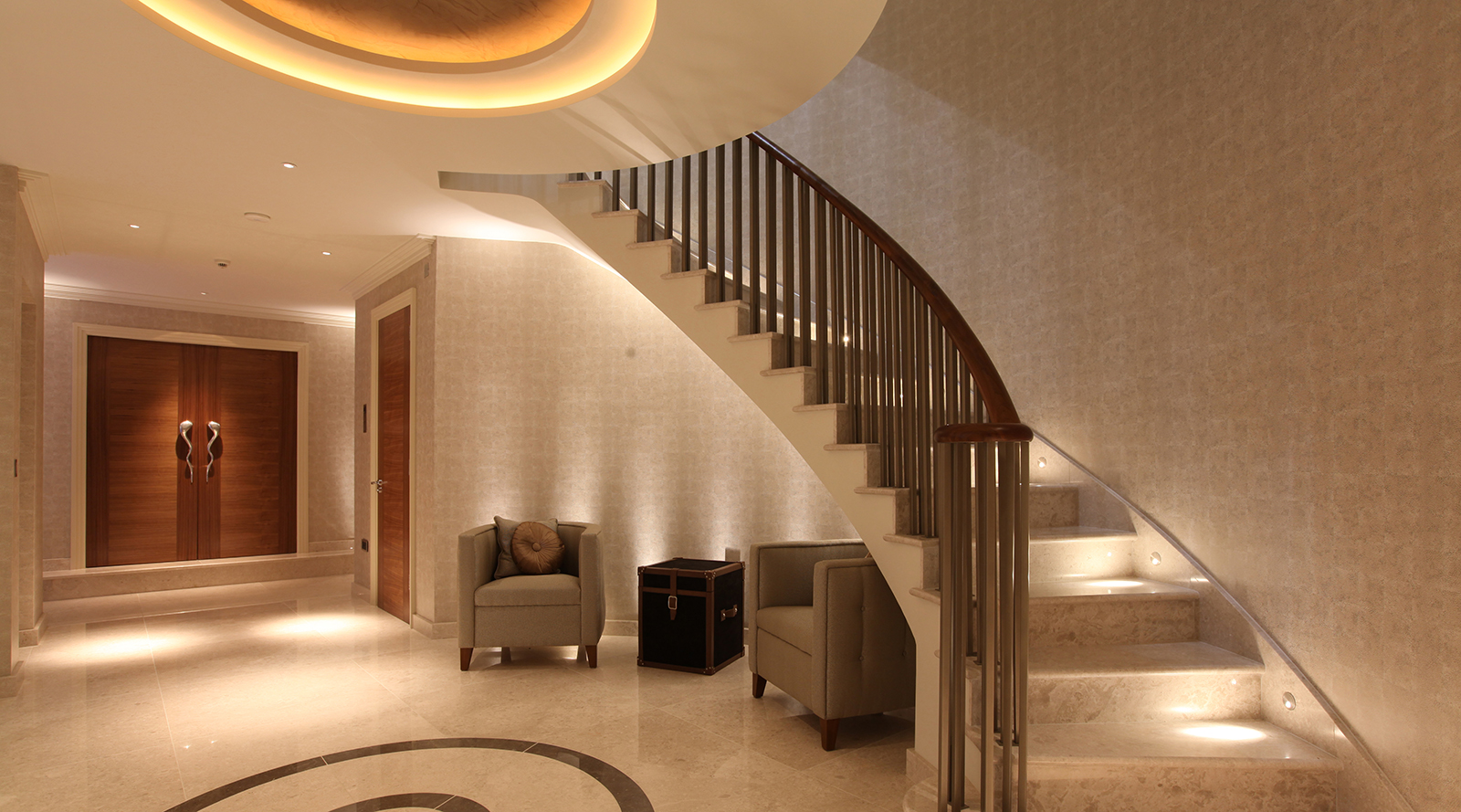 corridor, stair and under stair lighting design