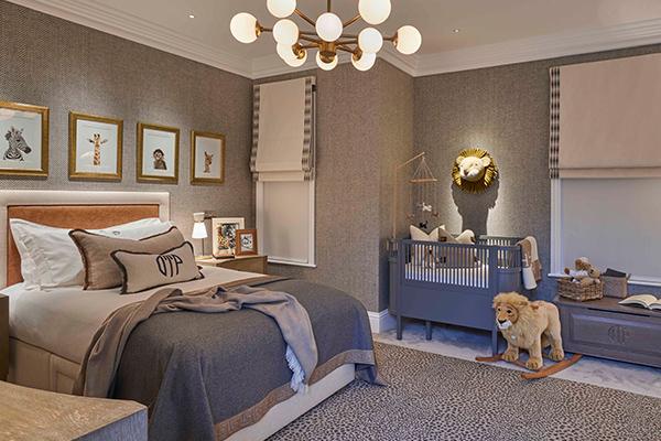 lighting cots and beds in children's bedroom