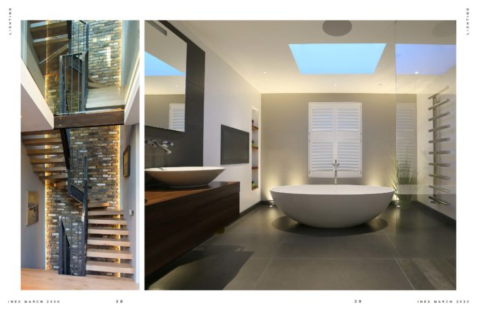 Staircase and bathroom lighting trends 2020