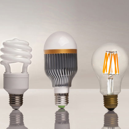 three different led bulbs