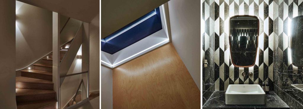 stair and skylight lighting detail