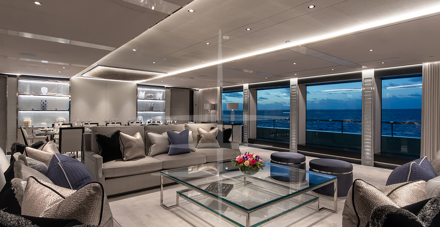 main salon of north star superyacht