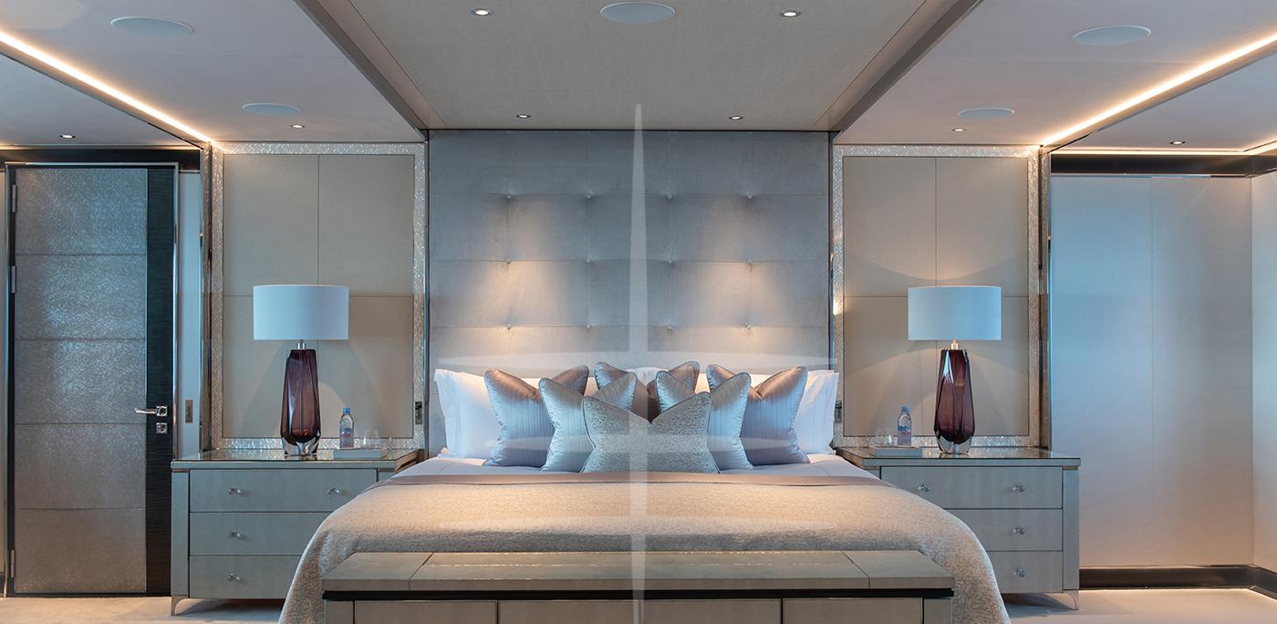 luxurious master cabin north star yacht