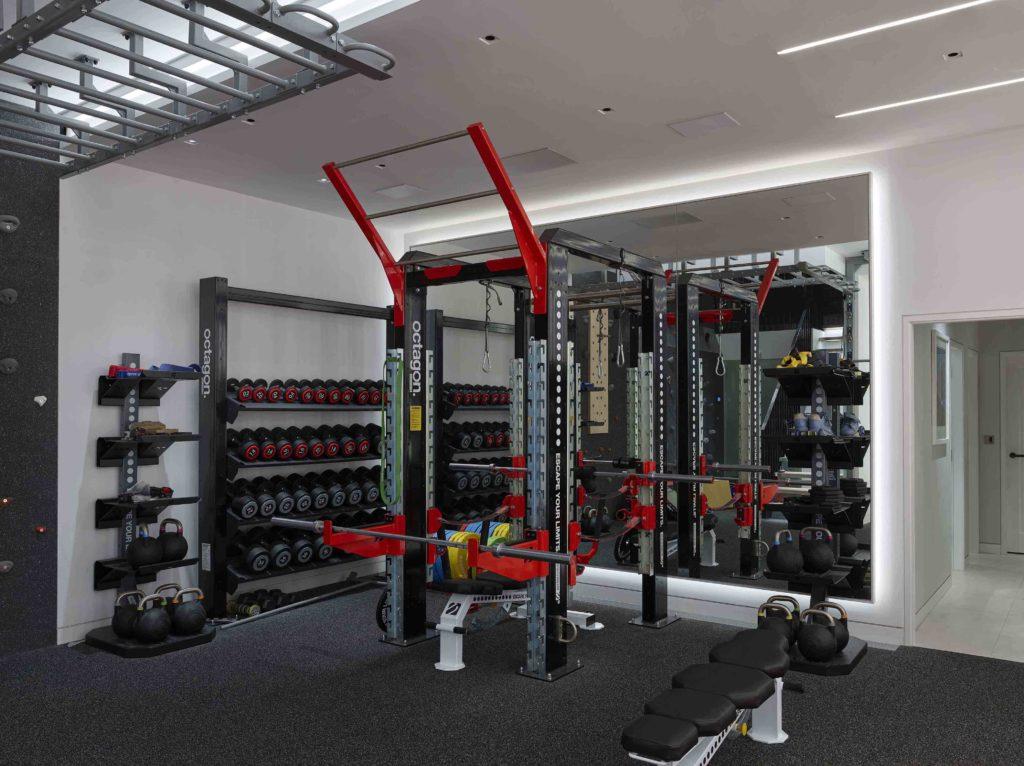 lighitng high tech home gym