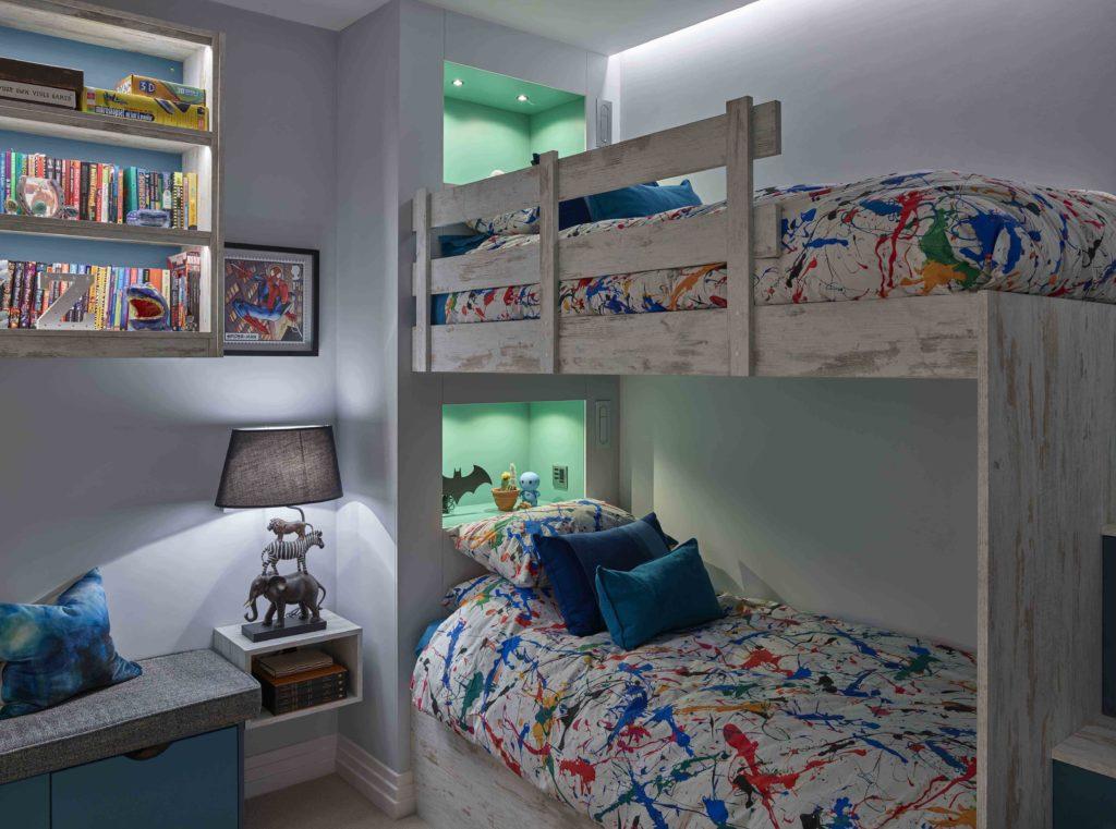 lighting for colourful kids bedroom