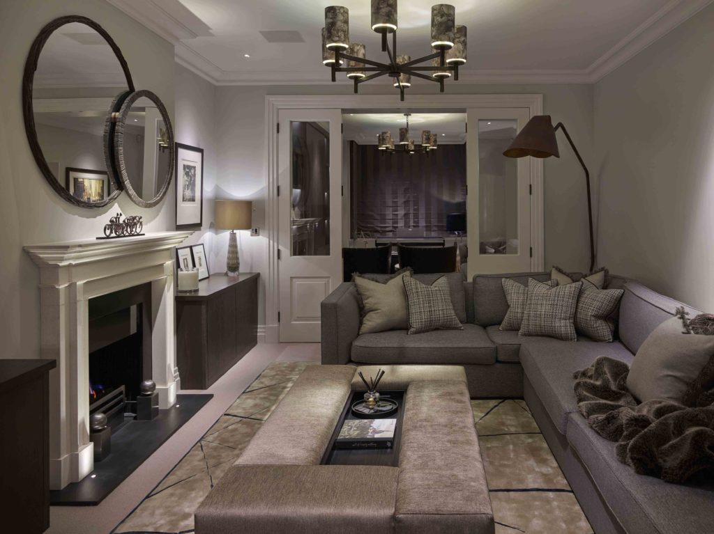 cosy living room lighting