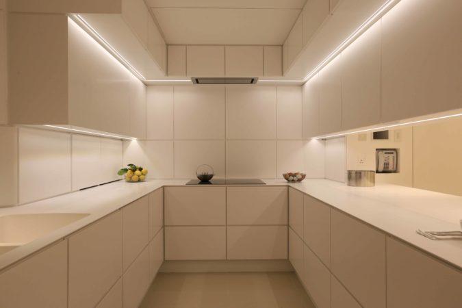 Kitchen lit with Contour LED strip light