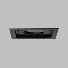 Square downlight with trim