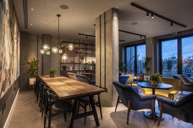 Industrial chic lighting through Vorsa Track lights in a living area