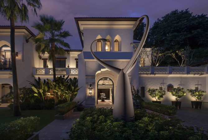 Lighting scheme for facade at a private residence in Kuala Lumper
