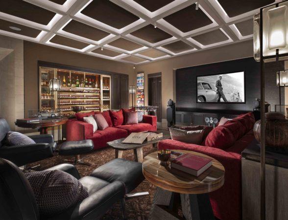 Living area lighting design scheme at Kuala Lumper residence