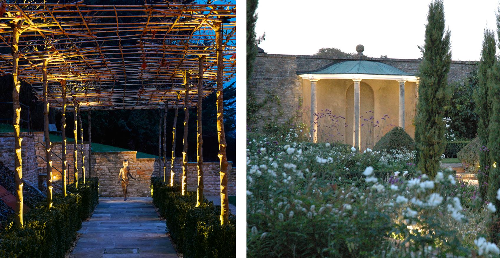 garden feature lighting examples