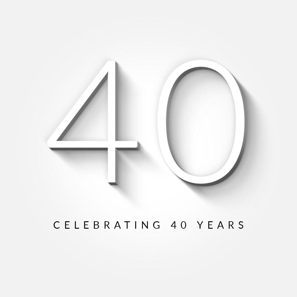 40 years of John Cullen Lighting logo
