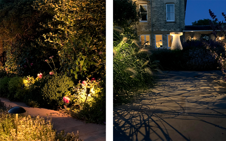 light up small paths with spike lights
