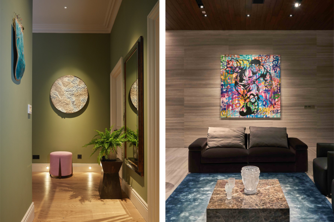 different approaches to lighting artwork with a downlight